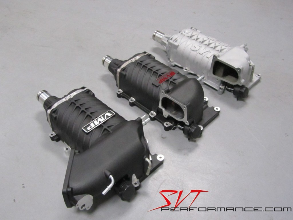 VMP Gen II, VMP Gen I and the stock TVS superchargers compared